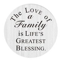 Wholesale family great - Large Floating Living Memory Charm Locket Plate- The love of a family is life's greatest blessing.