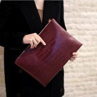 Wholesale Fashion crocodile grain women s clutch bag leather women envelope bag clutch evening bag female Clutches Handbag