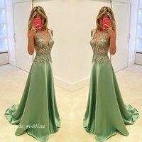 Wholesale Lime Green Long Formal Dresses - 2017 High Quality A Line Lime Green Evening Dress Sexy Custom Make Satin Applique Long Formal Special Occasion Dress Party Gown Plus Size