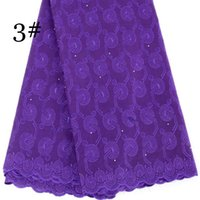 Wholesale African Purple Swiss Lace - African swiss voile lace high quality 5 Yards 100% Cotton Swiss Voile Lace Free Shipping wedding lace African Fabric blx1045 Purple