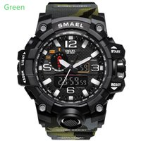 Wholesale Multi Function Hook - The new outdoor military watch camouflage sport waterproof double display men's watch with multi-function LED