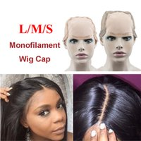 Wholesale Net Cap For Hair - Top L M S MONO Wig Caps For Making Wigs With Adjustable Strap Durable Strong Mono Lace Front Cap Hair Nets