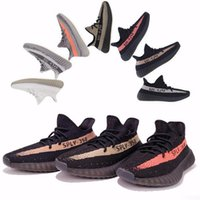 Wholesale Mens West - mens shoes 2017 SPLY-350 Boost V2 2016 New Kanye West Boost 350 V2 SPLY Running Shoes for mens Grey Orange Stripes Zebra Bred 10 Color
