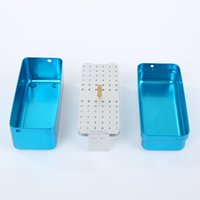 Wholesale Dental Equipment Burs - Oral Hygiene Teeth Whitening NEW 72 Holes Dental Disinfection Burs Holder Block Stand Autoclavable Sterilizer Box Dentist Lab Equipment