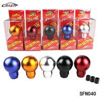Wholesale momo race - RASTP - MOMO Racing Manual Billet Aluminium Gear Shift Knob Ball Type Shifter Lever With Adapter RS-SFN040