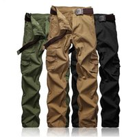 Wholesale Hot Pants Mans - hot sale man cargo pants Europe American casual trousers 3colors 9sizes waist belt available by extra price