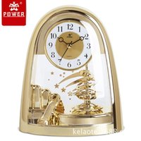 Wholesale Home Decor Desk Clock Modern Design Decorative Clocks 3d Table  Clock Watch Vintage Needle Quartz POWER4201
