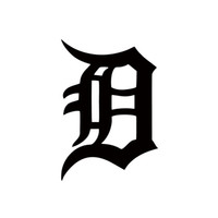Wholesale Tigers Stickers - Personality Detroit Tigers Old English D Decal Sticker Car Stying JDM