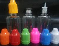 Wholesale pharmaceutical pet bottles - 100pcs Dropper Bottle for E liquid with ChildProof Caps 30ml PE PET empty plastic oil Needle bottle