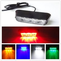Wholesale Red White Strobe Lights - High Power 12V 3 LED Waterproof Car Truck Emergency Strobe Flash warning Police Security light Amber Red Blue White Free Ship