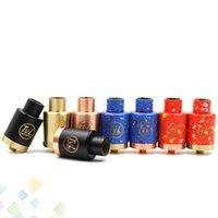 Wholesale Post Desk - Colorful TVL RDA Clone Rebuildable Dripping Atomizers with 510 thread 8 Colors 3 Post Desk PEEK Insulators Fit 510 Mods DHL Free