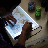 Wholesale Light Box Stencil - Wholesale- EZLIFE 1 Set A4 Tracing Drawing Board LED Artist Thin Art Stencil Board Light Box Tracing Drawing Board NEW WX0080