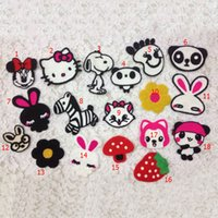 Wholesale Snoopy Clothes Baby - 18pcs Hello Kitty Snoopy Backing Patch For Clothing Patches parches ropa Embroidered Jacket Jean Patchwork Baby Applique Clothes Accessories