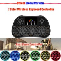 Wholesale New Style Mini Laptop - Remote Control Android Box Keyboard 2.4GHZ Wireless Multi-color Backlight 7 in 1 Colorful Mini Keyboards New Style