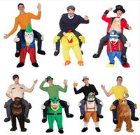 Wholesale Mascot Costume Funny - 2017 New Ride On Me Stag Oktoberfest Mascot Costume Carry Piggy Back Fancy Dress Costume Novelty Animal Funny Dress Up Fancy Pants In stock