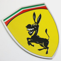 Wholesale Personalized Mustang - 3D Metal Donkey Car Window Bumper Body Sticker Badge Emblem Logo Decal Accessories Fit For Ferrari Ford Mustang