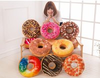 Wholesale Christmas Throws Free Shipping - Doughnut Hamburger Cushion Covers Pillow Case Decorative Throw Pillows Covers Christmas Gifts 13 Colors Stock! Free Shipping