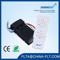Wholesale Timer Switch China - China fan light remote control switch 433 Mhz with 6 speed 6 timer customized for AC appliance