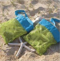 Wholesale Mesh Totes - Storage Bags Fashion Beach Mesh Bags Sand Away Collection Toy Bag Storage For Sea Shell Kids Children Tote Organizer CCA6326 200pcs