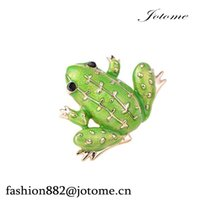 Wholesale brooches frogs for sale - Group buy 100PCS quot quot Black Eyed Green Frog Brooch Pin Lucky Symbol Animal Pin Sweater Guard Pin