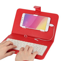 Wholesale Ipad Mini Keyboard Case Cover - KKmoon 4.2-6.8 Inches Android Micro 5-Pin Wired QWERTY Keyboard Case Phone Stand for Huawei Xiaomi HTC Samsung and more OTG Function PA3619R