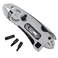 herramienta de supervivencia de bolsillo multiuso al por mayor-Herramienta multifuncional alicates cuchillo de supervivencia al aire libre EDC engranaje multiusos cuchillo de bolsillo acero inoxidable alicates de pesca poco