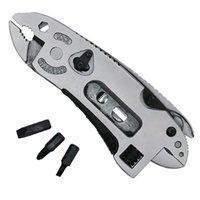 ferramenta multiusos de sobrevivência de bolso venda por atacado-Multifuncional ferramenta alicate faca dobrável sobrevivência ao ar livre EDC engrenagem multi-purpose canivete alicate de pesca de aço inoxidável bit