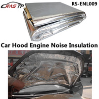 Wholesale Hood Stickers - Wholesale- Car Hood Engine Firewall Heat Mat Deadener Sound Insulation Deadening Material Aluminum Foil Sticker 140cm x100cm RS-ENL009