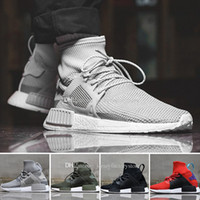 Caliente nueva llegada para mujer NMD xr1 Red Black Walking Boots Shoes, 2018 Nueva moda NMD High Top Sneakers Kniitting Running Shoes Eur 36-45