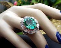 Wholesale Rare Russian - EXTREMELY RARE 8.29CT RUSSIAN SIBERIAN EMERALD DIAMOND RING BALLERINA 18K CERT