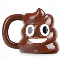 Emoticon Becher Poo Emoji Förmigen Tee Kaffee Trinkbecher Cartoon Emoji Becher ohne deckel 301-400 ml keramik Drink Becher KKA1084