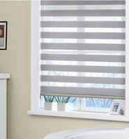 Wholesale New Double Layer Zebra Roller Blinds Blackout