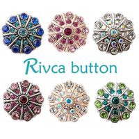 Wholesale Cheap Chunk Bracelets Buttons - D00221 18mm metal cheap button snap for noosa chunk jewelry for women bracelet