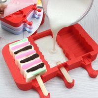 Silicone Cartoon Cute Ice Pop Molds Popsicle Moldes Bandejas de gelo Ice Cream Maker Holder Holder Mold Ferramentas de cozinha 10 estilos OOA2068