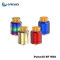 Wholesale Wholesale Red Bottom - authentic vandy vape Pulse 22mm BF-RDA 22mm diameter rda atomizer e cigarette vaporizer bottom feed directly red blue gold rainbow available
