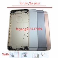 substituição de habitação venda por atacado-Uma qualidade full housing back tampa da bateria meio quadro de metal para iphone 6 s 4.7