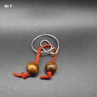 corda de brinquedos para adultos venda por atacado-Corda Snail Ring Wire Puzzle Novidade Jogo Adulto Criança Kid Inteligência Inteligente Enigma Brinquedos IQ Cérebro Teaser Test Prop