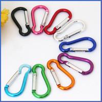 Wholesale Hanging Keys Wall - S mini Aluminum multitool button Carabiner keychain Durable camping hiking Carabiner key ring Snap Clip Hooks EDC hangs 250081