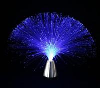 fibra ótica venda por atacado-Decorações do partido de Fibra Óptica Lâmpada de Luz de Casamento Do Feriado Central peça de Mesa de Fiberoptic LEVOU Festivo Decoração de natal suprimentos de presente