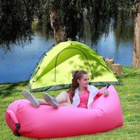 Hammocks and Cots blow chair - Modern Home Air Furniture Foldable Gas Lazy Sofa Bed Sunshine Beach Blow Up Chair Park Sleeping Air Bag Equipment Waterproof For Travel
