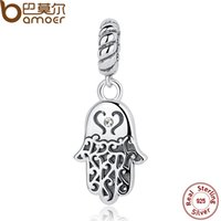 Wholesale pendants collection for sale - Pandora Sterling Silver Lucky Hamsa Hand Pendants Charm fit Bracelet Necklace for Women New Collection SCC031