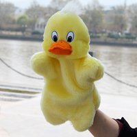 Wholesale Duck Puppets - Wholesale- Hot Sale Animal Plush Puppet Doll Kids Early Educational Tool Toys Cute Duck Hand Puppet Doll Toys