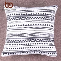 Wholesale Chic Cushion Covers - BeddingOutlet Elegant Black White Striped Cushion Cover Modern Chic Reversible Geometric Pillow Case Microfiber Soft Throw Cover