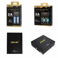 Wholesale Fast Battery Charger Aa - GOLISI O2 O4 S2 S4 Charger Digicharger O4 Battery Charger intelligent for Ni-MH Ni-Cd aa aaa 18650 26650 2A Fast charge VS Nitecore DHL Free