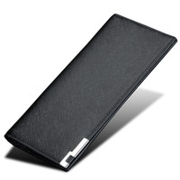 Wholesale Thin Big Cell Phones - New Arrival men's long suffiano pattern PU wallet super thin purse with big capacity for daily use