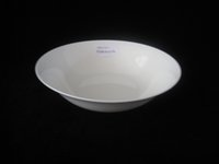 Wholesale 9 inches new bone china wide mouth salad bowl Porcelain salad bowl Ceramic white bowl
