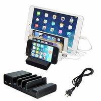 Wholesale Multi Usb Charging Station - Universal 4 USB Multi-Port USB Charging Station Travel Wall Charger Desktop Quick Charging Station Futural Digital AP20