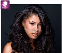 Wholesale Beautiful European Hair Wigs - Beautiful European Virgin hair Lace Front Wig natural color European Wigs with baby hair 100% virgin human curly full lace wig free shipping