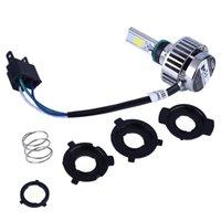 far ampülü motosikletler toptan satış-M3S motosiklet LED far uzak ve yakın ışık enerji tasarrufu büyük ampuller dahili H4 süper parlak motosiklet LED lamba 6500 K