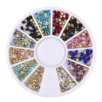 New 3D Nail Art Strass Mix Glitters acrilico Tips Decorazione Manicure Wheel Tip Indietro Nail Decorazione fai da te